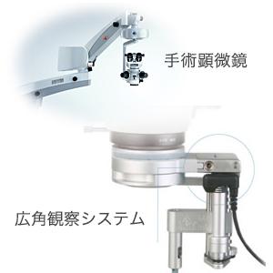 手術顕微鏡+広角観察システム